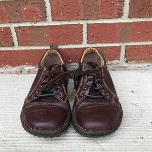 Born Brown Leather Driving Oxfords 8.5/40 M/W